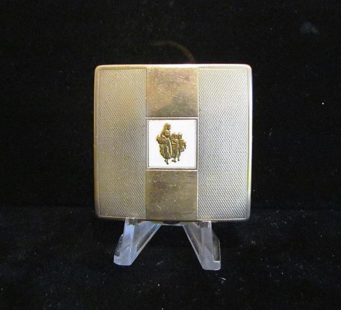Vintage Yardley Powder Compact 1950's Silver Compact