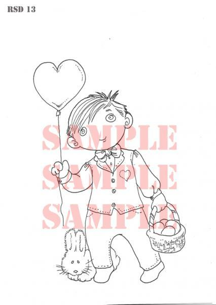 Euro Boy Easter Digi Stamp