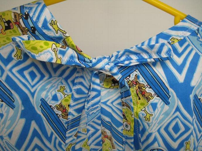 Get Messy - Blue Surfing Sponge Art Smock or Full Bib