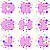 Cupcake Dots Initial Digital Collage 1 inCircles