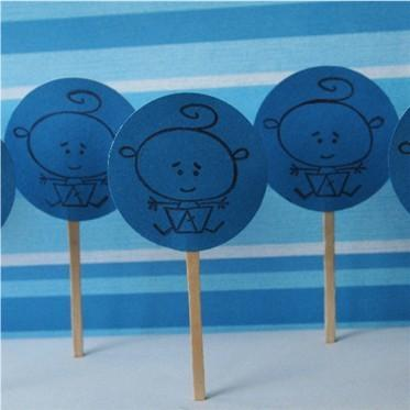 Boy Baby Shower Cake Cupcake Picks