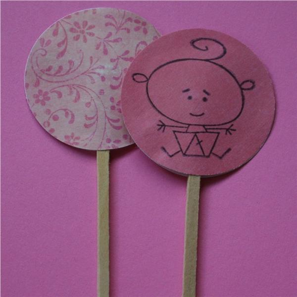 Baby Girl Shower Cake Cupcake Picks