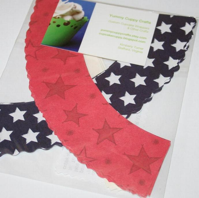 2 Pack Stars Cupcake Wrappers (24) CLEARANCE