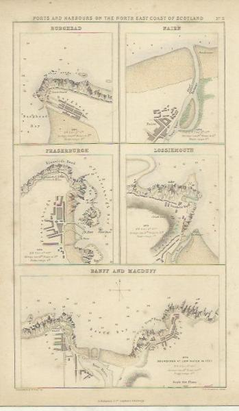 Nairn Scotland Map.Burghead Nairn Fraserburgh Lossiemouth By Vintagefromfrance On Zibbet