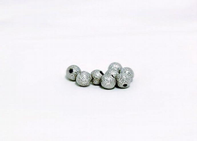 Silver Stardust Beads