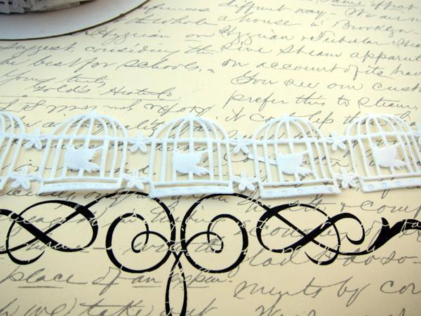 1 yd Birdcage Satin Trim - White stl
