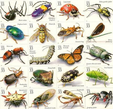 Bees, Spiders, Butterflies 1998 US Postal Service 33c 1998 NOS Stamps