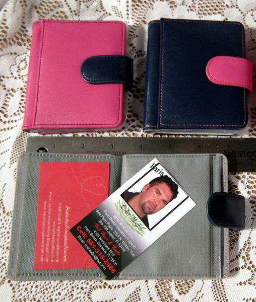2 ATC/Pocket Letter Mini Album - Blue/Pink
