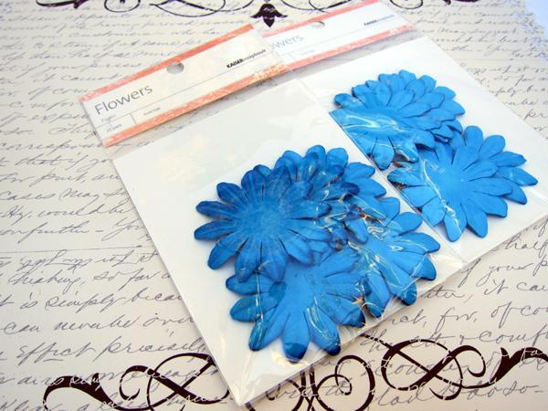 KaiserScrapbook Flowers - 25pc Blue