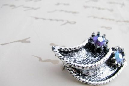 Swarovski Crystal Scatter Pin Brooch 1960 Sparkling Vintage Rhodium Plated