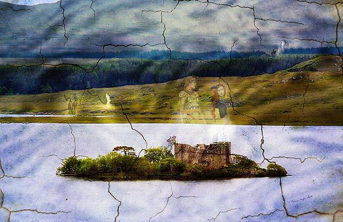 The Lost Kingdom- mixed media digital art collage