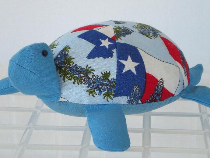 Texas Stuffed Toy Turtle/Pincushion