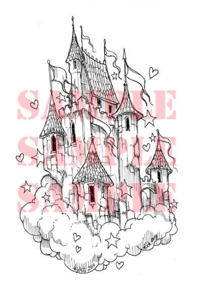 Air Castle Digital Stamp