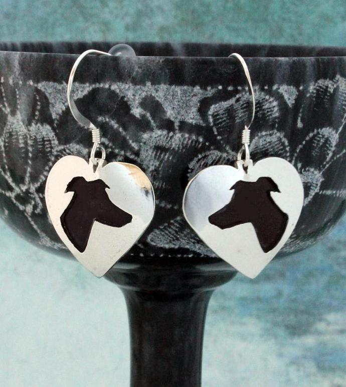Going Home Greyhounds Black Greyhound Earrings