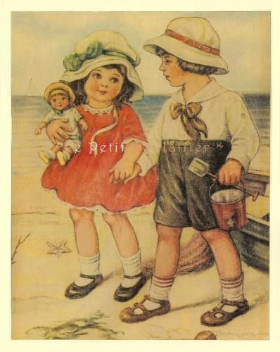 Bunny Brown and Sister Sue 1990 Vintage Florence Nosworthy Storybook Poster
