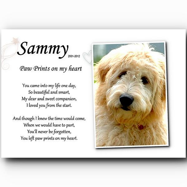 Personalized pet memorial Paw Prints on my heart download digital file U print
