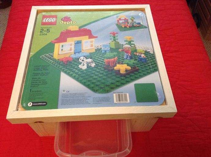 Lego Duplo Table w/Pull out tray by ClassicWoodToysbyMark on Zibbet
