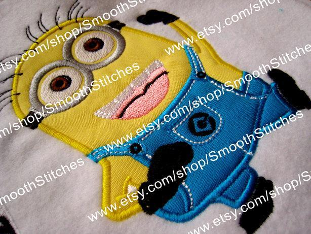 Minion 2 Eyes Applique Design for Embroidery Machines