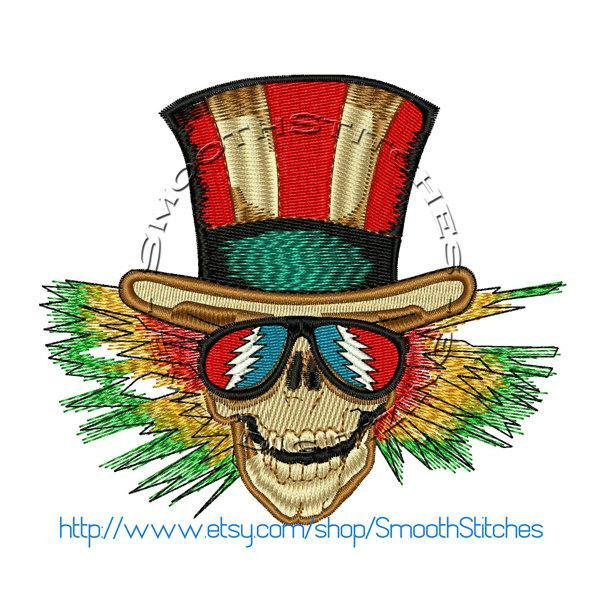 Grateful Dead Uncle Sam Design for Embroidery Machine - Instant Download