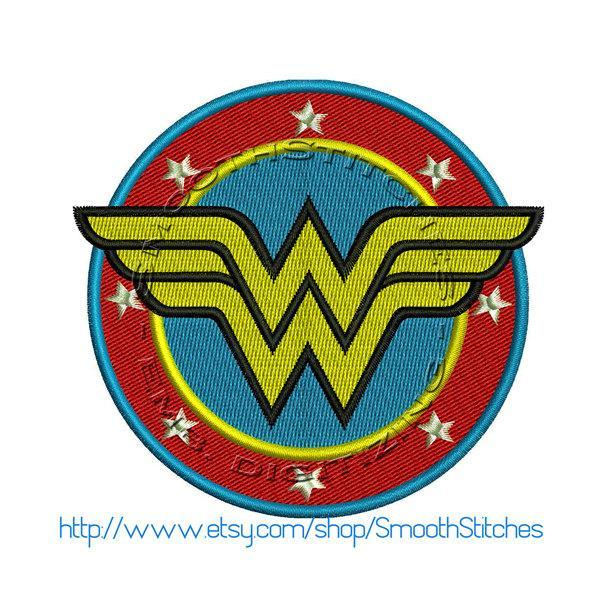 wonderwoman emblem Design for Embroidery Machines. Size 3x3.  Instant Download