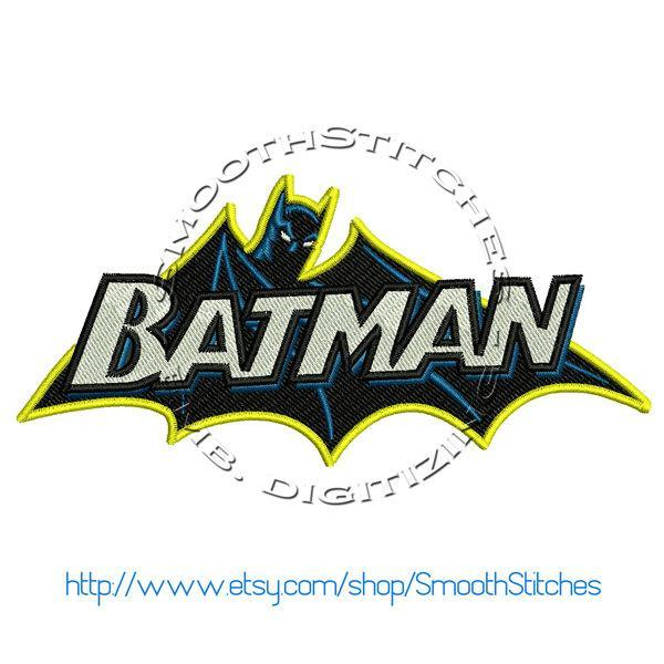 Batman Classic Design for Embroidery Machine. Size 4x4.  Instant Download