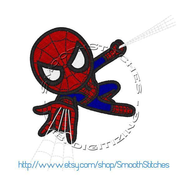 Cute Spiderman Design for Embroidery Machines