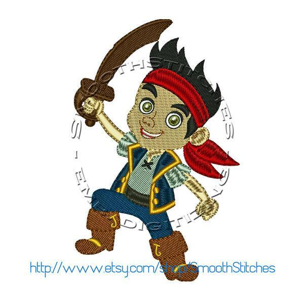 Pirate Jake Design for Embroidery Machines