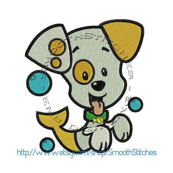 Bubble Guppies Puppy Design for Embroidery Machines. Size 4x4.  Instant Download