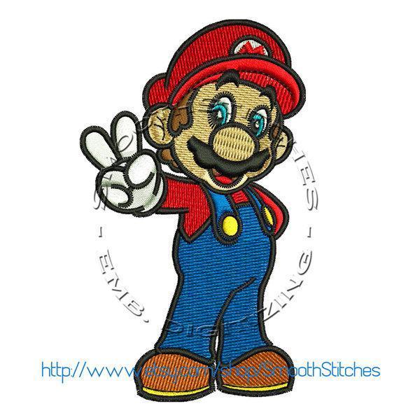 Super Mario Design for Embroidery Machines