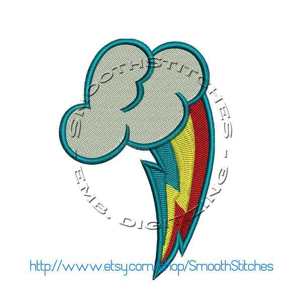 Dash Cutie Mark Design for Embroidery Machines. Size 4x4.  Instant Download