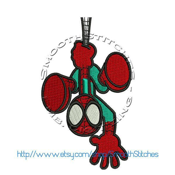 Hanging Spider Design for Embroidery Machines. Size 4x4.  Instant Download