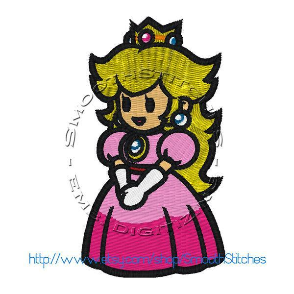 Princess Peach Design for Embroidery Machines