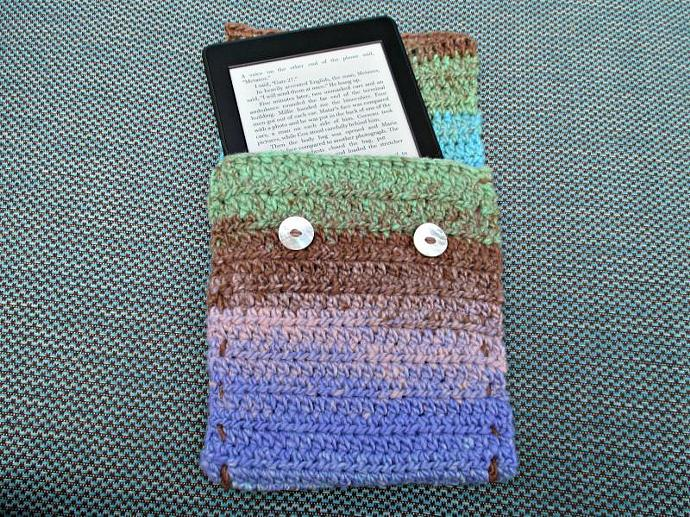 Cover for Kindle E-Reader- Multicolor Brown, Green, Purple