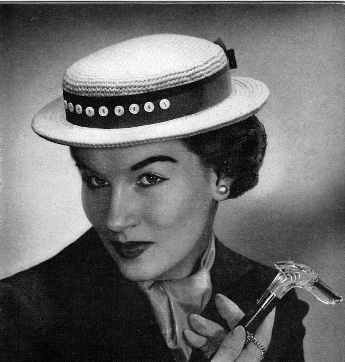 Women's Sailor Hat Crochet Pattern PDF Vintage Pattern / Sailors hat pattern /