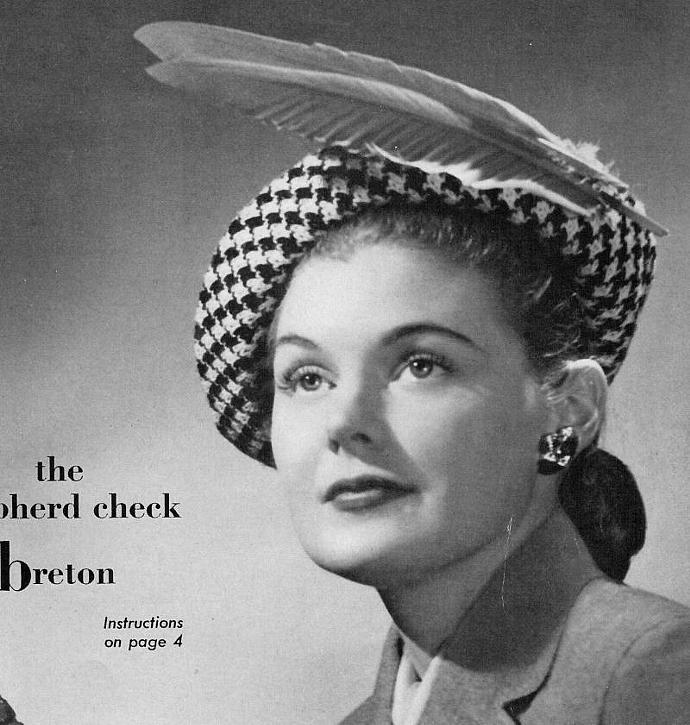 Women's Knitted Shepherd Check Breton Pattern PDF Vintage Pattern / Houndstooth