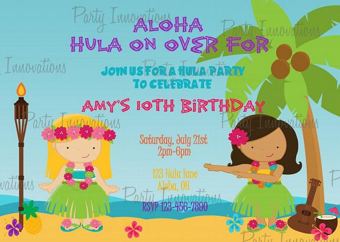 Printable Luau Birthday Party By Partyinnovations09 On Zibbet