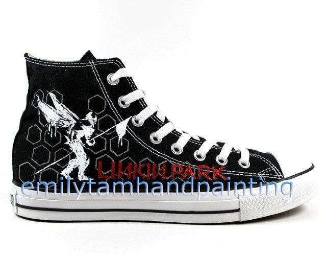 18de3ce93c08 Linkin Park Converse Shoes Custom Converse Linkin Park Kicks ...