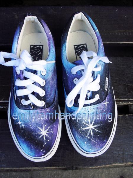 74af137501 Galaxy Shoes-Galaxy Vans Sneakers by EmilyHandPainting on Zibbet