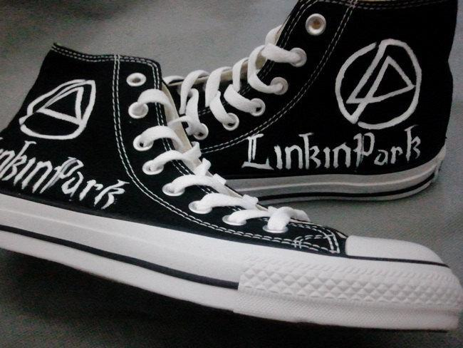 7f2451a29df9f5 Linkin Park Converse High Top Sneakers ...