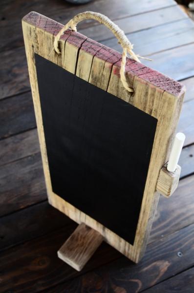 Reclaimed chalkboard for table menu / Desk Chalkboard  / Rustic Decoration /