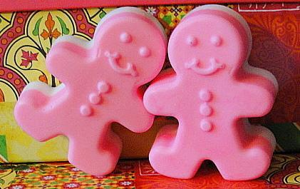 GINGERBREAD Hot Pink Couple STOCKING Stuffers