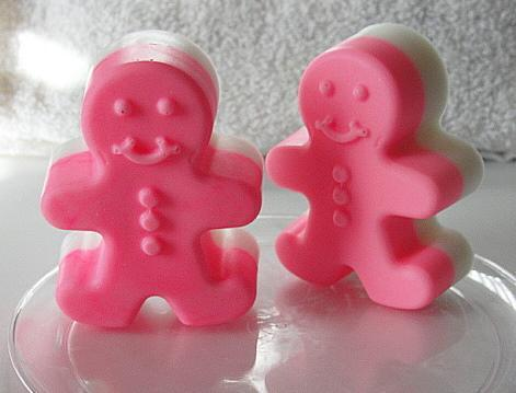 GINGERBREAD Hot Pink Couple STOCKING Stuffers