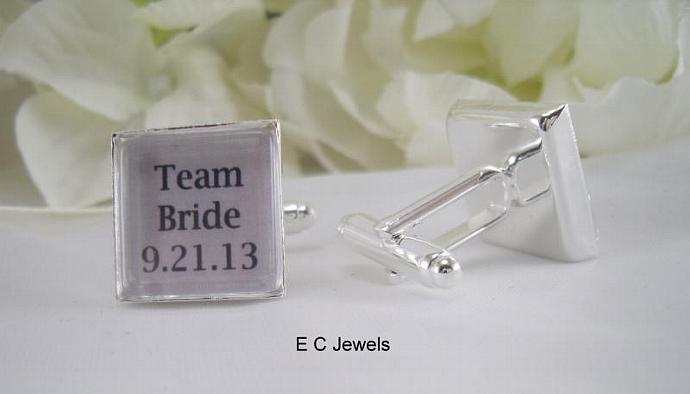 Team Bride Cufflinks