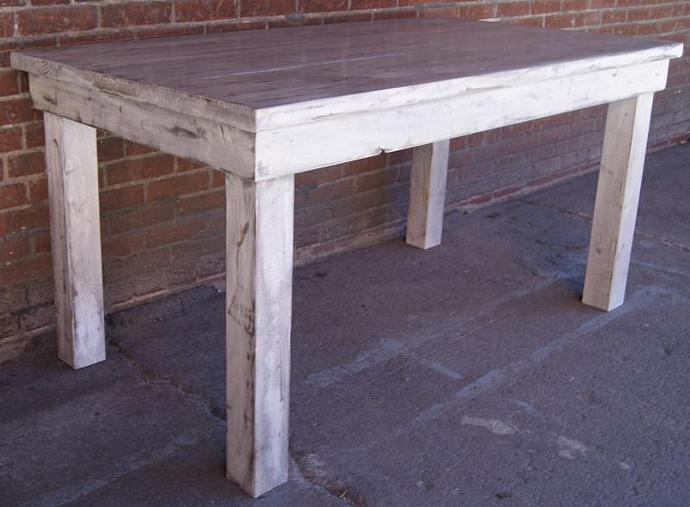Attrayant Farm Table, Weathered White Harvest Table, Rustic Farm Table, Primitive Farm
