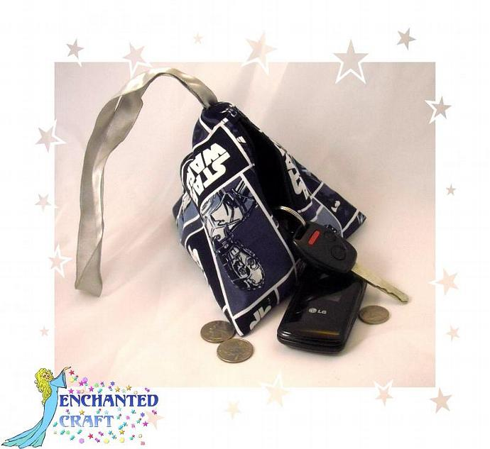 Star Wars Zippered bag- small wristlet or dice bag