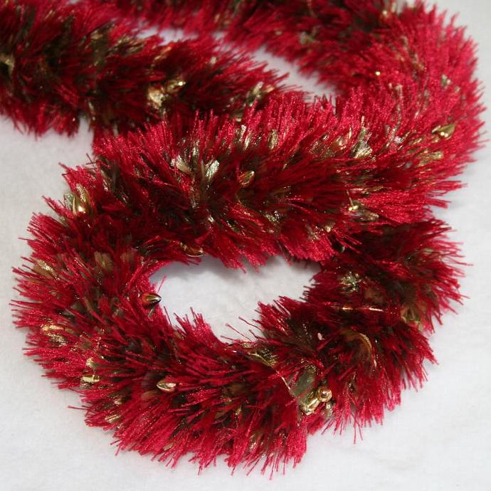 Red Holiday Lights Hawaiian Lei
