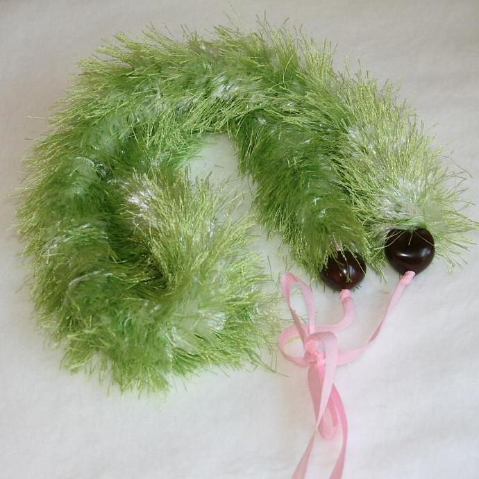 Furry Green Hawaiian Lei