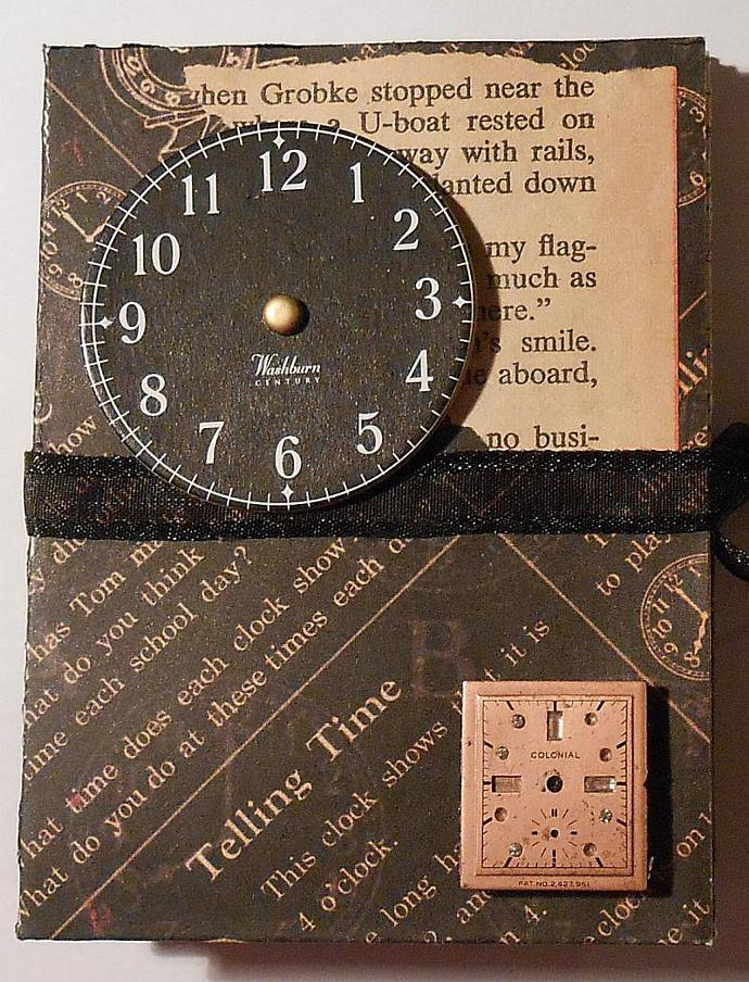 Photo Booklet Clock Theme Handmade Steampunk