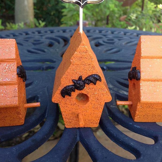 Halloween Trick or Treat Mini Birdhouses
