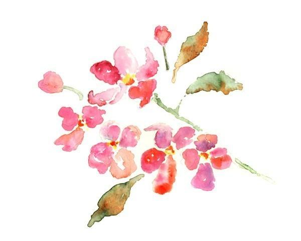 Flower painting watercolor art print by lighthearteddreamer on mightylinksfo